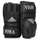 Half Finger Boxing Training Gloves - Black (2-Piece Pack)