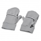 WONNY Outdoor Sports Non-slip Long Full Finger Gloves - Grey (Pair)
