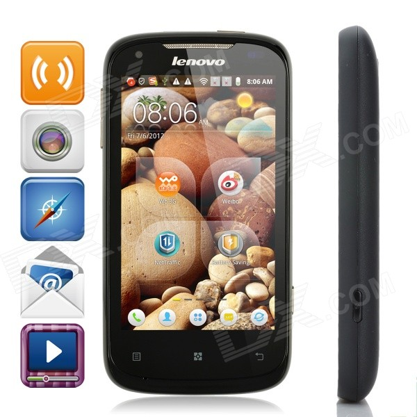 Lenovo A750 Android 2.3 WCDMA Cellphone w/ 4.0 Capacitive, GPS, Wi-Fi and Dual-SIM - Black lenovo a750 android 2 3 wcdma cellphone w 4 0 capacitive gps wi fi and dual sim black