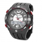 Fashion Water Resistant Diving Wrist Watch - Black + White (1 x CR2016 + 1 x SR626SW)