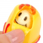 Banana Style PP Rubber Stress Reliever Keychain - Yellow