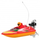 Water Resistant Remote Control R/C Racing Boat - Red + Yellow
