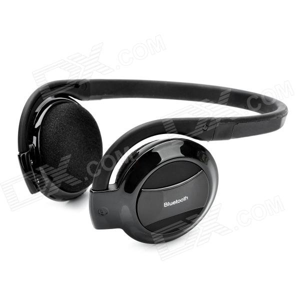 X7 Rechargeable Bluetooth V2.1+EDR MP3 Player Headphones Headset - Black (160 Hours-Standby)