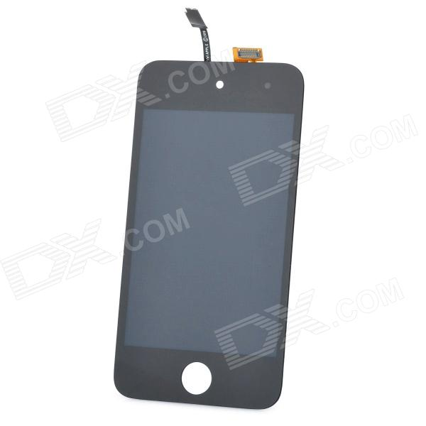 Genuine Replacement Touch Screen Digitizer LCD w/ Tools Kit for iPod Touch 4 - Black (8-Piece Pack)