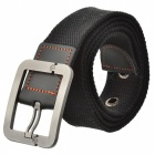Fashion Canvas Belt w/ Zinc Alloy Buckle - Black