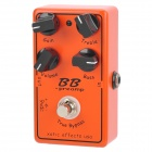 Guitar True Bypass Digital Overdrive Effect Pedal - Black + Orange