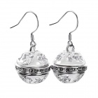 Fashion Round Bell Alloy Earrings - Silver (Pair)