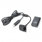 "3.7V ""4800mAh"" Battery w/ USB Charging Cable for Xbox 360 Wireless Controller - Black"