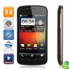 "W900 Android 2.3 WCDMA Bar Phone w/ 4.0"" Capacitive, GPS, Wi-Fi and Dual-SIM - Black"