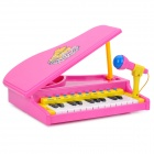 Simulation Electronic Piano Toy with Microphone - Deep Pink (3 x AA)
