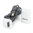 "3.7V ""4800mAh"" Battery w/ USB Charging Cable for Xbox 360 Wireless Controller - White"