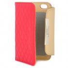 OMO Protective PU-Leder Flip-open für Iphone 4 / 4S - Rot + Brown