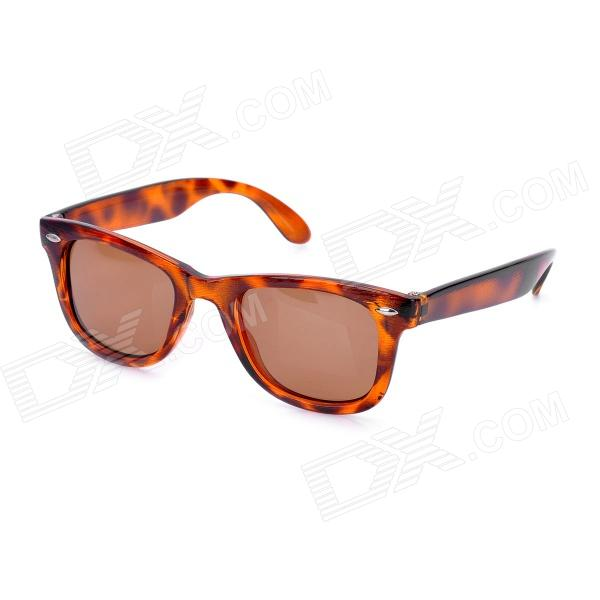 UV400 Protection Fashion Resin Lens Polarized Sunglasses - Brown cy8150 fashion women s resin uv400 protection sunglasses leopard pattern frame