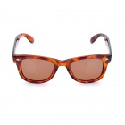 UV400 Protection Fashion Resin Lens Polarized Sunglasses - Brown