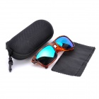 OREKA UV400 UV Protection Fashion Blue Resin Lens Polarized Sunglasses - Brown