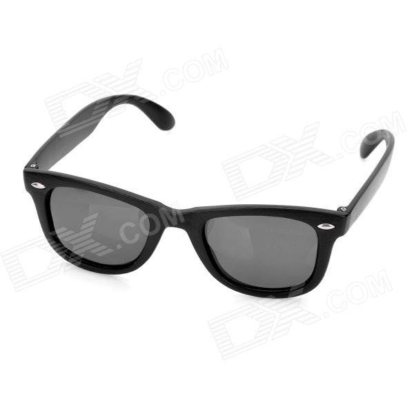 UV 400 Protection Fashion Wood Style Frame Resin Lens Polarized Sunglasses - Black resin assembly kits 1 9 200mm police girl 200mm unpainted kit resin model free shipping