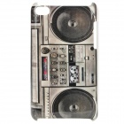 Stylish Tape Recorder Pattern Protective PC Back Case for Ipod Touch 4 - Grey