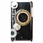 Stylish Retro Camera Pattern Protective PC Back Case for Ipod Touch 4 - Black