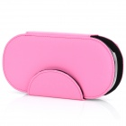 HORI Protective Artificial Leather Case w/ Plastic Back Holder for Sony PS Vita - Pink
