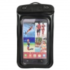 Waterproof Bag Case w/ 3.5mm Earphone / Armband / Strap for Samsung i9220 - Black