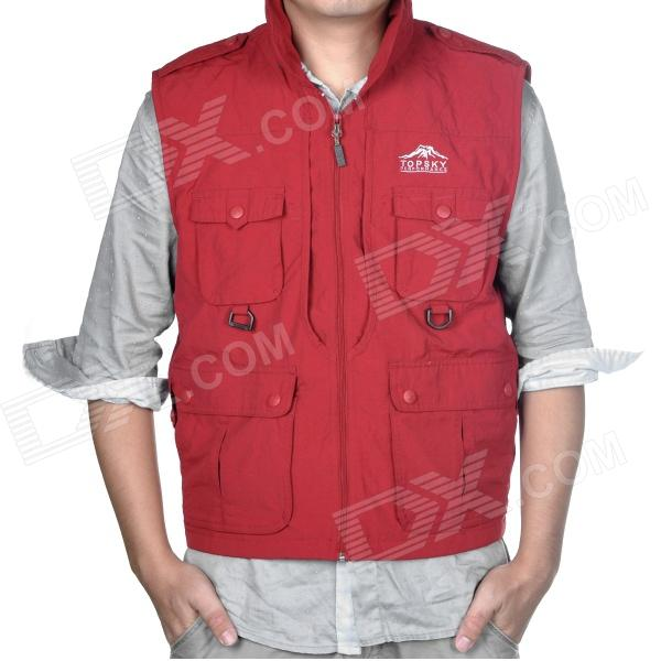 Topsky Outdoor Multifunction Quick-Dry Photography Vest for Women - Red (Size-L)