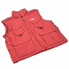 Topsky Outdoor Multifunction Quick-Dry Photography Vest for Women - Red (Size-XXL)