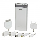 6800mAh Mobile Power Battery Charger w / 7 x Adapter für das iPhone / Samsung - Silber