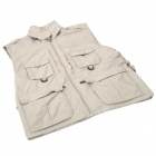 Topsky Outdoor Multifunction Quick-Dry Photography Vest - Light Khaki (Size-XXL)