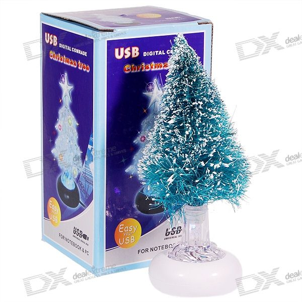 Colorful LED Desktop Christmas Tree (USB or Battery Powered)