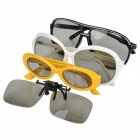 Passive Polarization Film 3D Glasses Family Pack for TV - (4-Pairs)