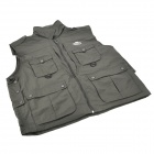 Topsky Outdoor Multifunction Quick-Dry Photography Vest - Deep Army Green (Size-XXL)