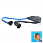 Sports MP3 Player Headphones Headset - Black + Blue (1 x AAA)