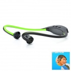 Sports MP3 Player Headphones Headset - Black + Green (1 x AAA)