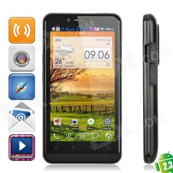 "ZOPO ZP200 3D Android 2.3 WCDMA Smartphone w/ 4.3"" Capacitive, GPS, Dual-SIM and Wi-Fi - Black"