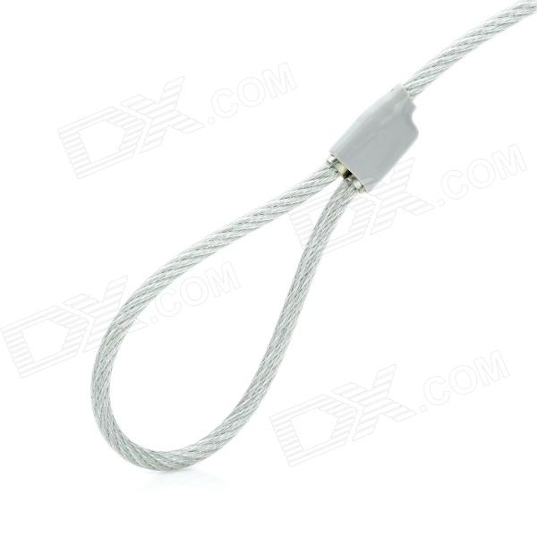 Steel Security Cable : Steel wire rope security cable lock w key for laptops