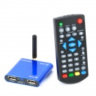 H24 Mini Android 4.0 Network Media Player w/ Wi-Fi / HDMI / USB / TF / AV - Blue (4GB)