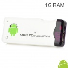 AK802 Mini Android 4.0 Network Media Player w/ Wi-Fi / HDMI / TF / USB - White (4GB / 1GB DDR III)