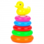 Stylish 5-Ring Stacking Rings Duck Toy