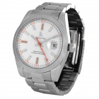 IK Men's Fashion Water Resistant Mechanical Wrist Watch - Silver + White