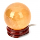 USB Powered Crystal Ball with Light Effect - Yellow