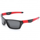 Fashion OREKA Polarized Resin Lens Sunglasses - Black + Red + Grey