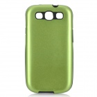 Stylish Protective Aluminum Alloy Cover Silicone Back Case for Samsung Galaxy S3 i9300 - Green