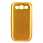 Stylish Protective Aluminum Alloy Cover Silicone Back Case for Samsung Galaxy S3 i9300 - Yellow
