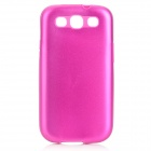 Stylish Protective Aluminum Alloy Cover Silicone Back Case for Samsung Galaxy S3 i9300 - Deep Pink