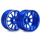 1/10 R/C Car On Road 12-Spoke Aluminum Alloy Wheel - Blue (52.6 x 26.5mm / 2-Piece Pack)