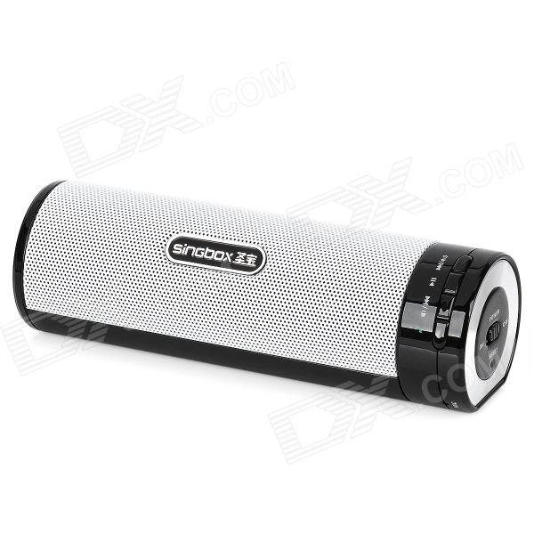 SINGBOX T3 Rechargeable Bluetooth V2.1 3W Speaker - White + black от DX.com INT