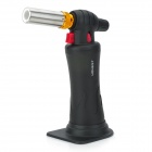 1300'C Stainless Steel Adjustable Flame Butane Jet Torch Lighter w/ Stand - Black + Silver