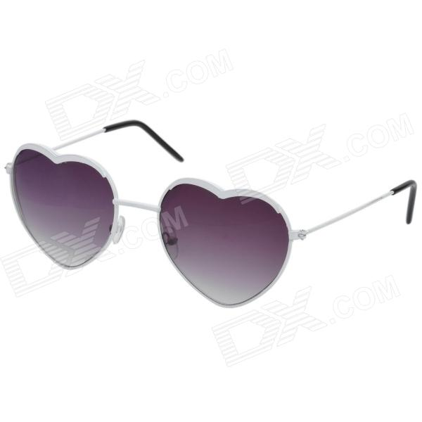 Fashion Heart Shape Resin Lens Sunglasses - Brown