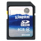 Genuine Kingston SD / SD HC Memory Card - 4GB (Class 4)
