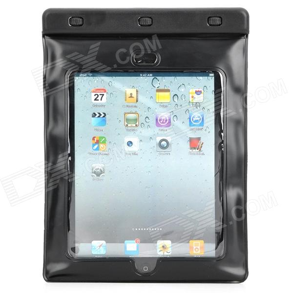 C11E Waterproof Bag for Tablets for Ipad / Laptop - Black waterproof bag with earphone